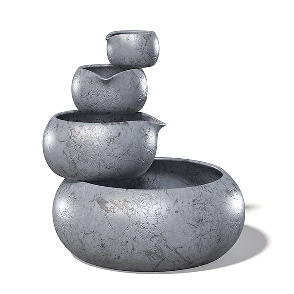 Decorative Pots 3D Model - 3DOcean Item for Sale