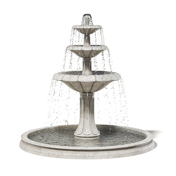 Large Fountain 3D Model - 3DOcean Item for Sale