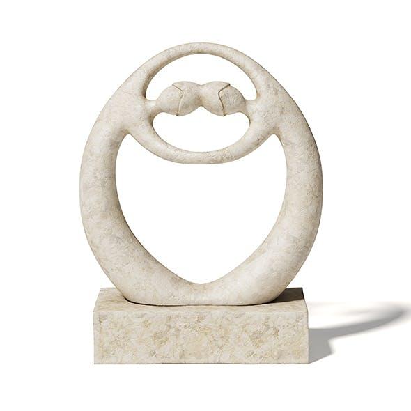 Stone Sculpture 3D Model - 3DOcean Item for Sale