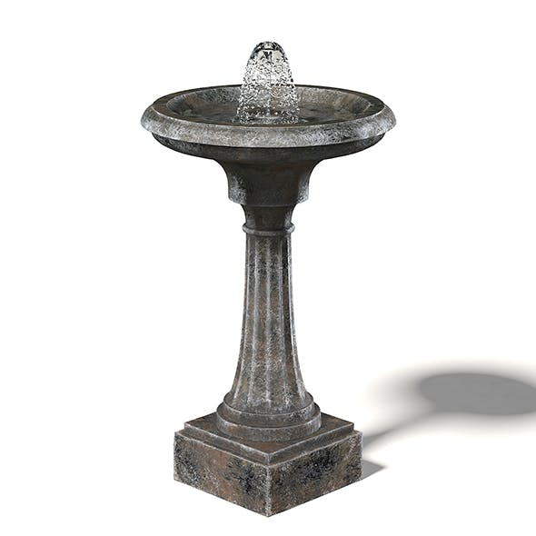 Old Metal Fountain 3D Model - 3DOcean Item for Sale