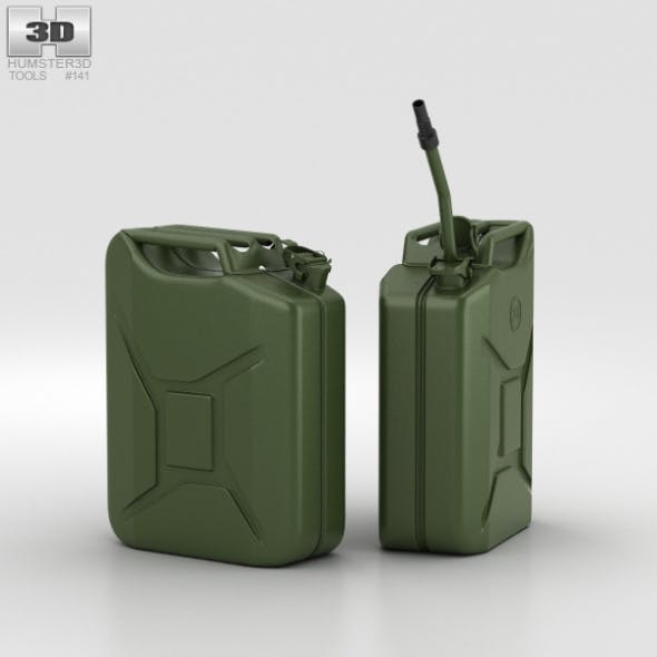 20L Jerry Can - 3DOcean Item for Sale
