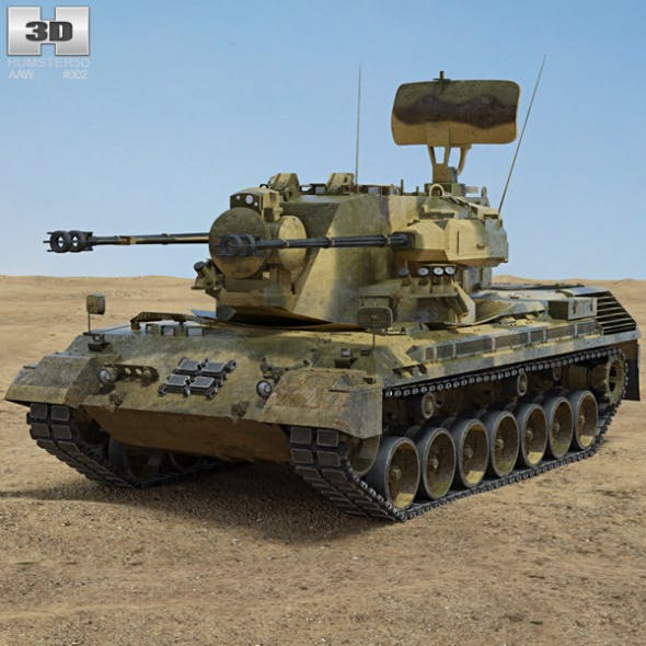 Flakpanzer Gepard 1A2 - 3DOcean Item for Sale