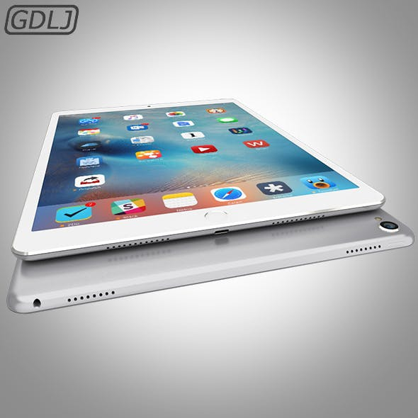 iPad Pro - Silver - 3DOcean Item for Sale