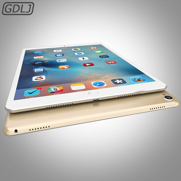iPad Pro - Gold - 3DOcean Item for Sale