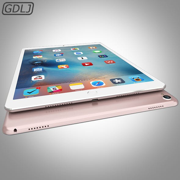iPad Pro - Rose - 3DOcean Item for Sale