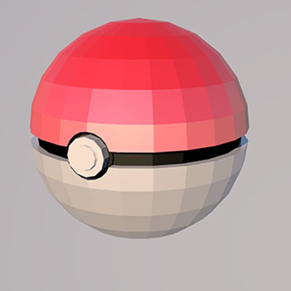 POKEBALL Low-poly model