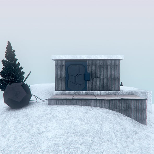 Cabin in the Snow - 3DOcean Item for Sale