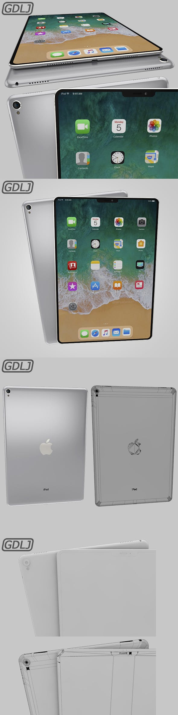 iPad Pro X Silver - 3DOcean Item for Sale