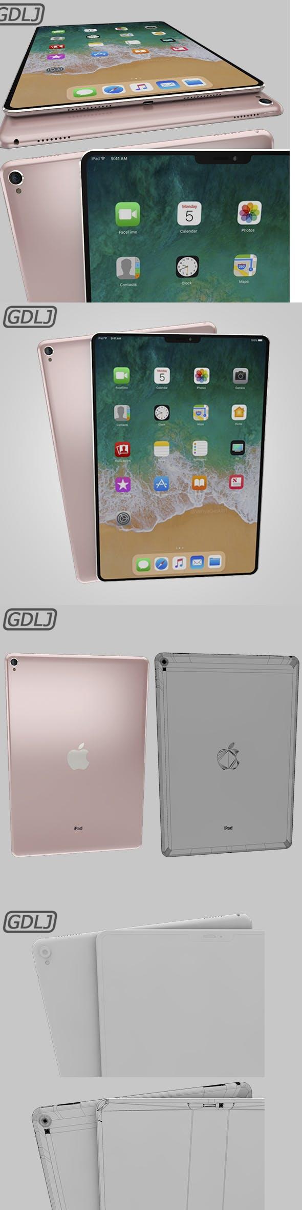 iPad Pro X Rose - 3DOcean Item for Sale