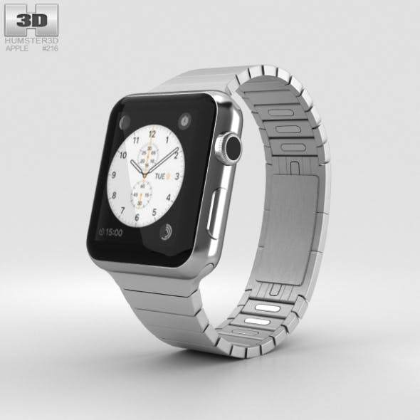 Apple Watch Series 2 38mm Stainless Steel Case Link Bracelet - 3DOcean Item for Sale