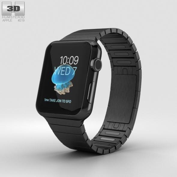 Apple Watch Series 2 42mm Stainless Steel Case Black Link Bracelet