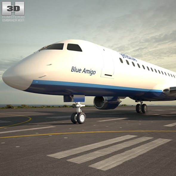 Embraer E190 - 3DOcean Item for Sale