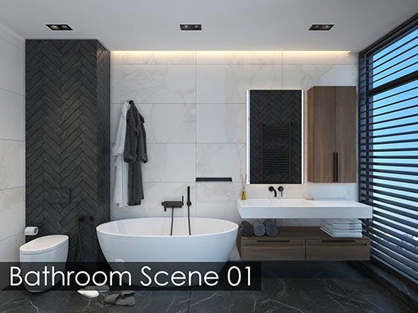 Bathroom Scene 01 - 3DOcean Item for Sale