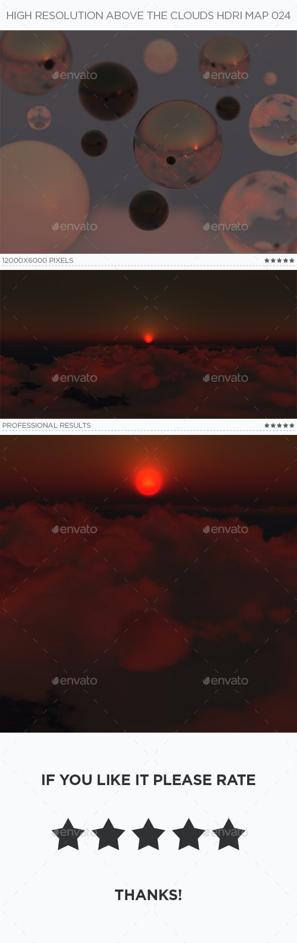 High Resolution Above The Clouds HDRi Map 024 - 3DOcean Item for Sale