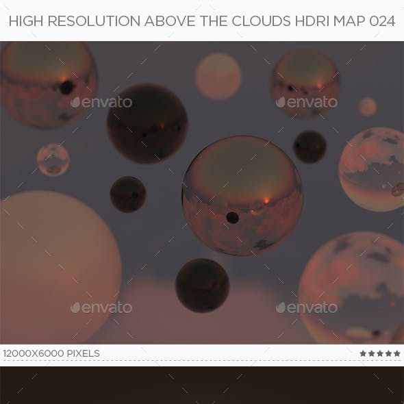 High Resolution Above The Clouds HDRi Map 024
