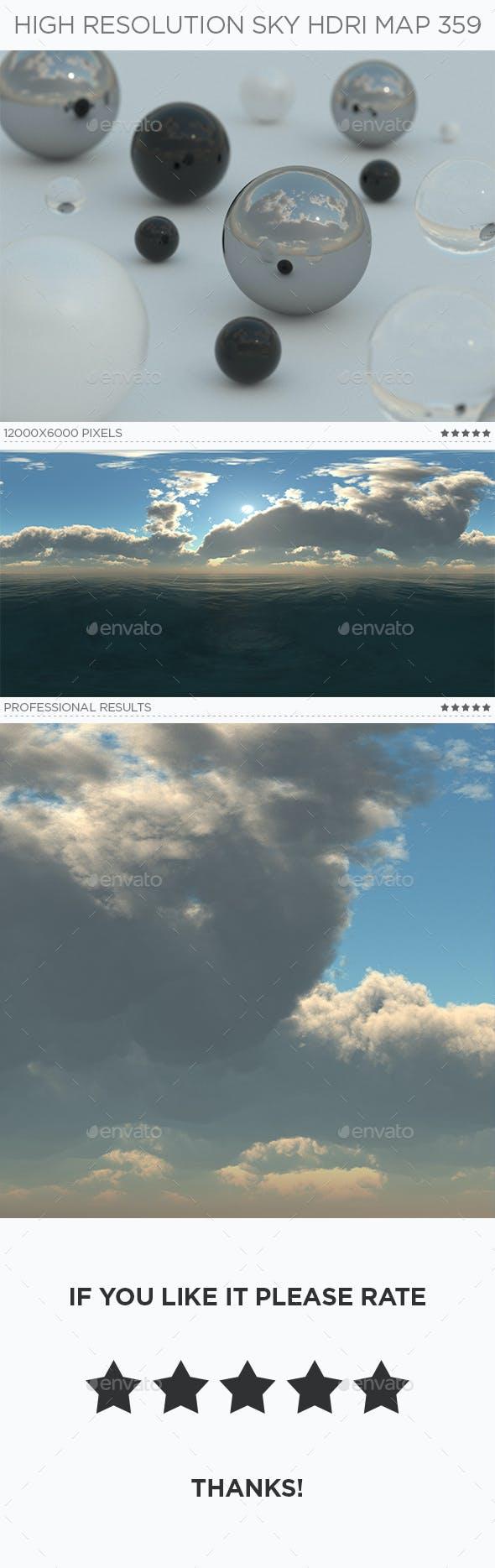 High Resolution Sky HDRi Map 359 - 3DOcean Item for Sale
