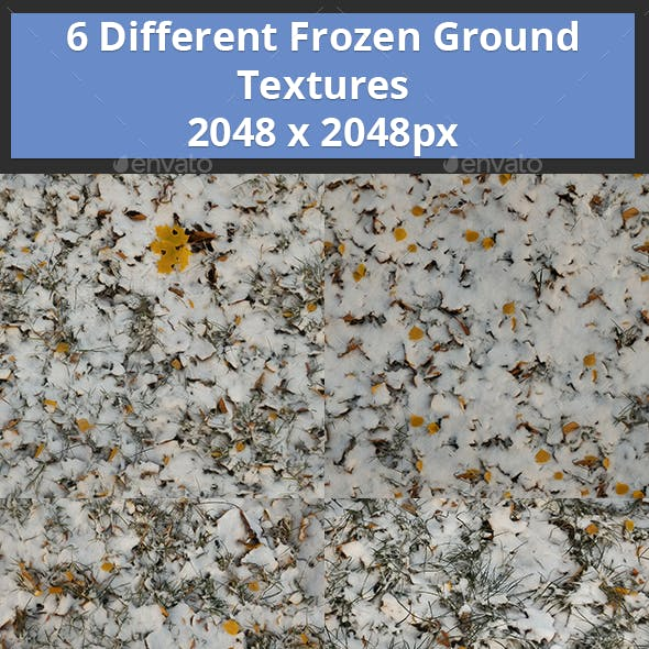 Pack of 6 Frozen Ground Seamless Textures