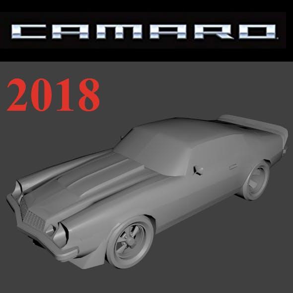 Low Poly  Camaro 3d model