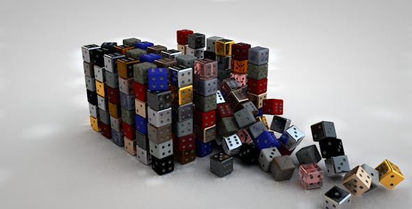 Dice High Quality + 17 Materials (bonus) - 3DOcean Item for Sale