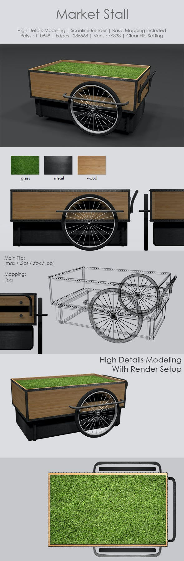 Market Stall - 3DOcean Item for Sale