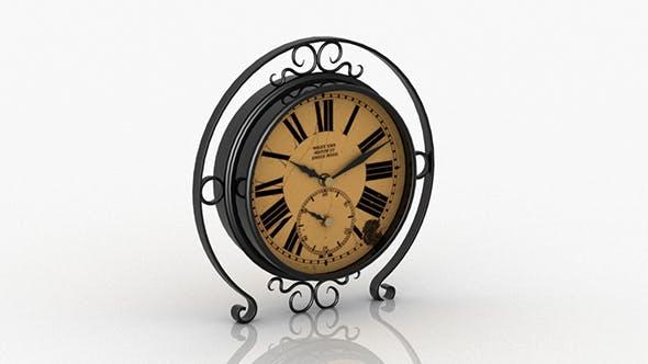 Old Vintage Desk Clock - 3DOcean Item for Sale