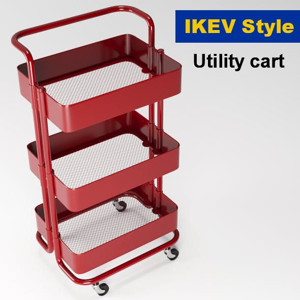 Utility cart(IKEA Style) - 3DOcean Item for Sale