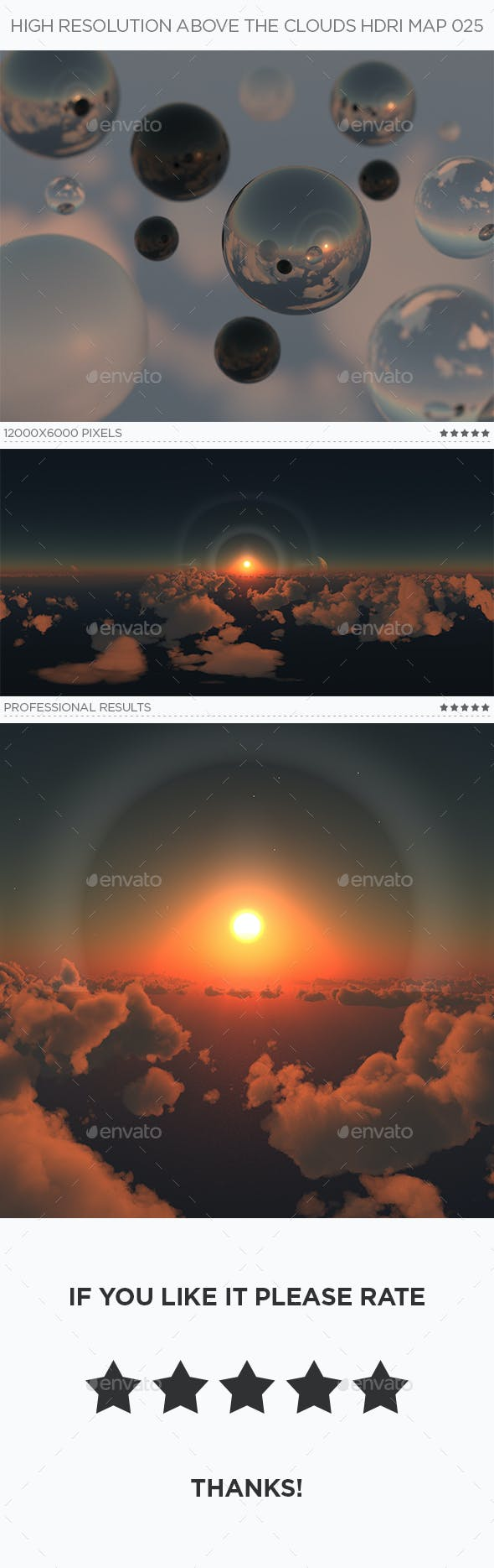 High Resolution Above The Clouds HDRi Map 025 - 3DOcean Item for Sale