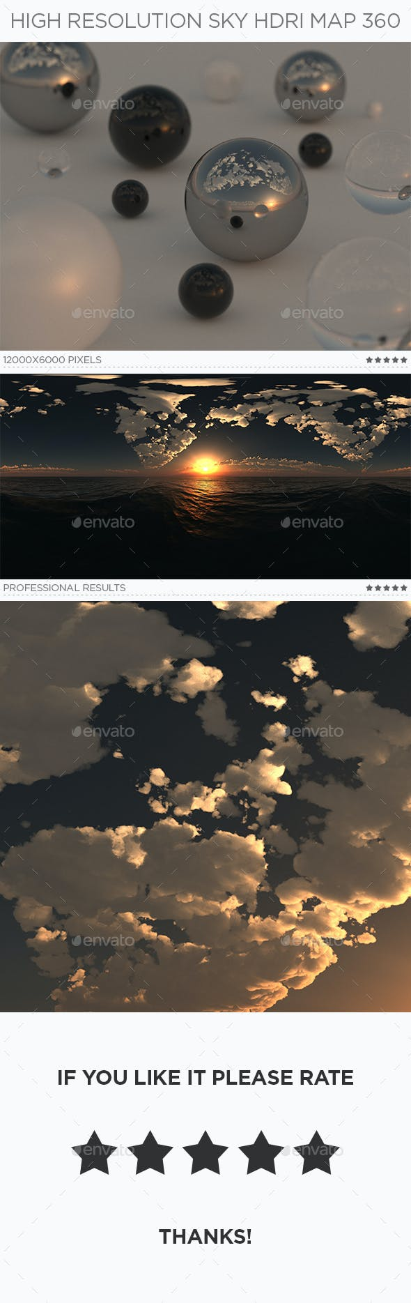 High Resolution Sky HDRi Map 360 - 3DOcean Item for Sale
