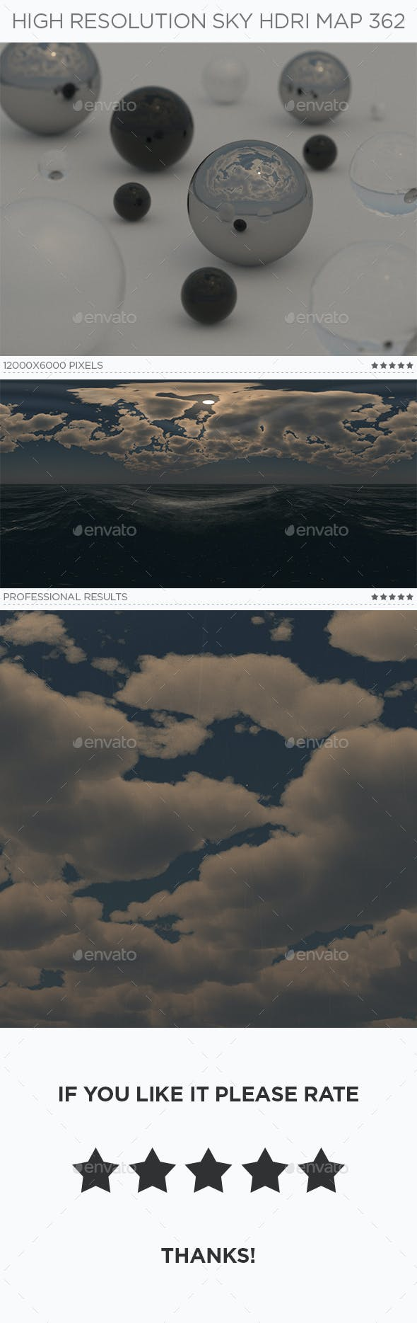High Resolution Sky HDRi Map 362 - 3DOcean Item for Sale