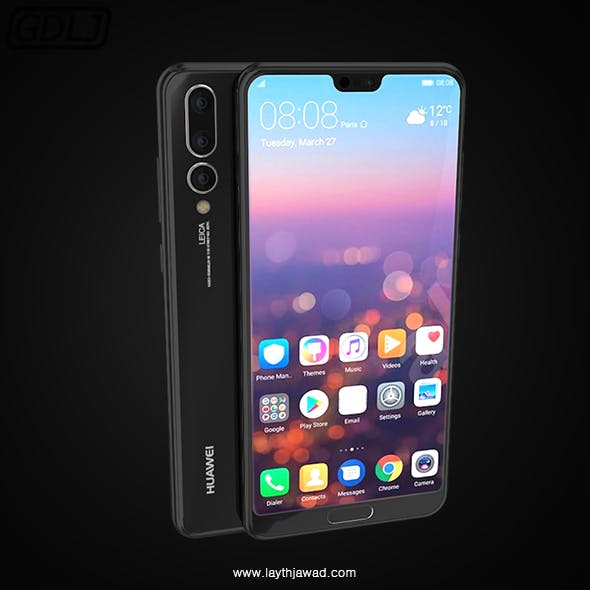 "Huawei P20 Pro "" Black "" - 3DOcean Item for Sale"