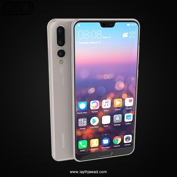 "Huawei P20 Pro "" White "" - 3DOcean Item for Sale"