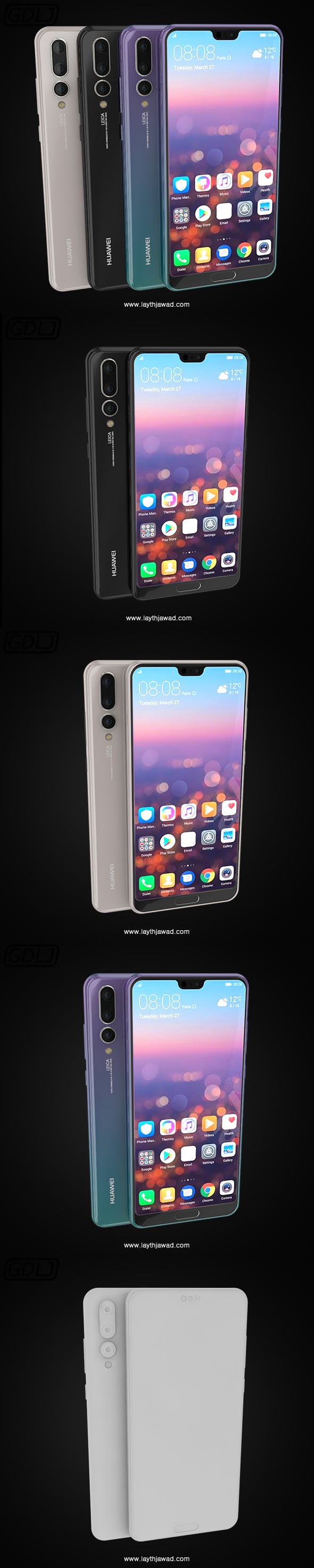"""Huawei P20 Pro """" 3 Colors """" - 3DOcean Item for Sale"""