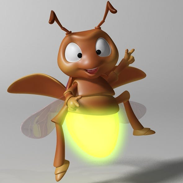 Cartoon Firefly RIGGED