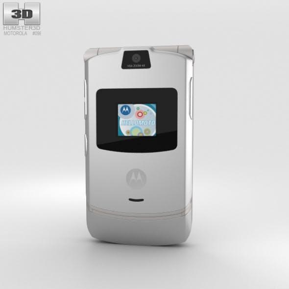 Motorola RAZR V3 Silver - 3DOcean Item for Sale