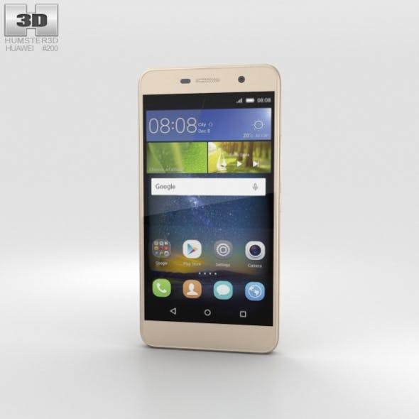 Huawei Honor Holly 2 Plus Gold - 3DOcean Item for Sale