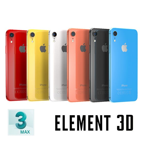 iPhone XS, XS Max and XR - Element 3D, MAX, OBJ