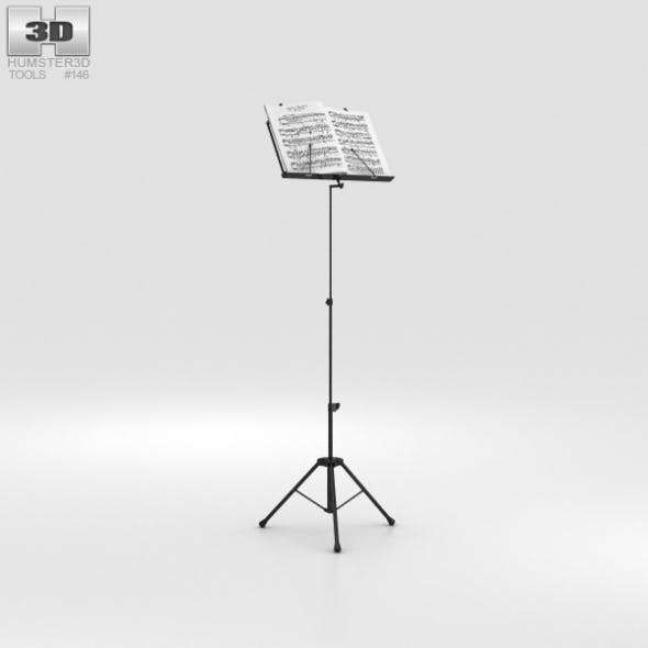 Music Stand - 3DOcean Item for Sale