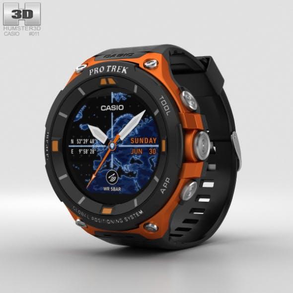 Casio Pro Trek WSD-F20 Orange - 3DOcean Item for Sale