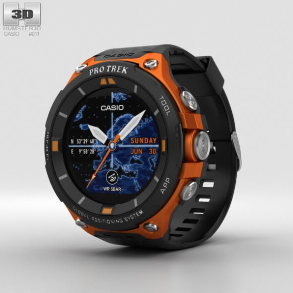 Casio Pro Trek WSD-F20 Orange