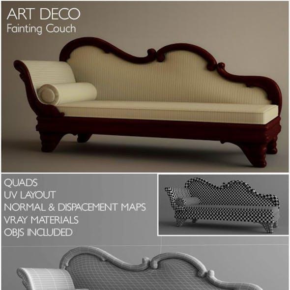 Art Deco Fainting Couch