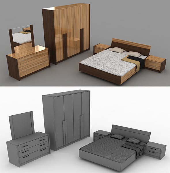 High quality beds - 3DOcean Item for Sale