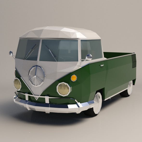 Low-Poly Samba Pickup