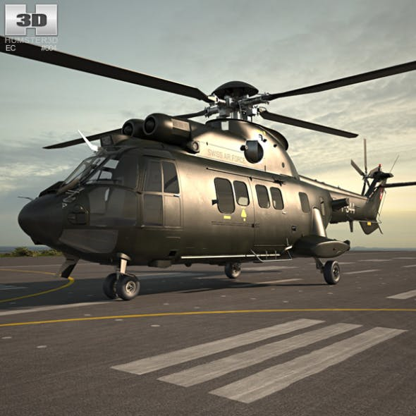 Eurocopter AS532 Cougar - 3DOcean Item for Sale