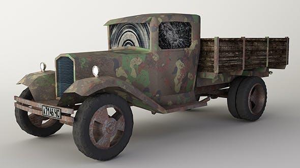 Car GAZ-AA military van Low-poly - 3DOcean Item for Sale