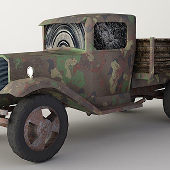 Car GAZ-AA military van Low-poly