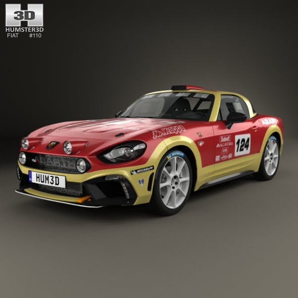 Fiat 124 Abarth Rally 2016 - 3DOcean Item for Sale