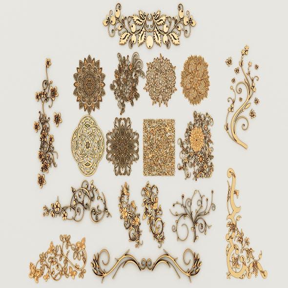Ornament Pack-2 18 elements - 3DOcean Item for Sale