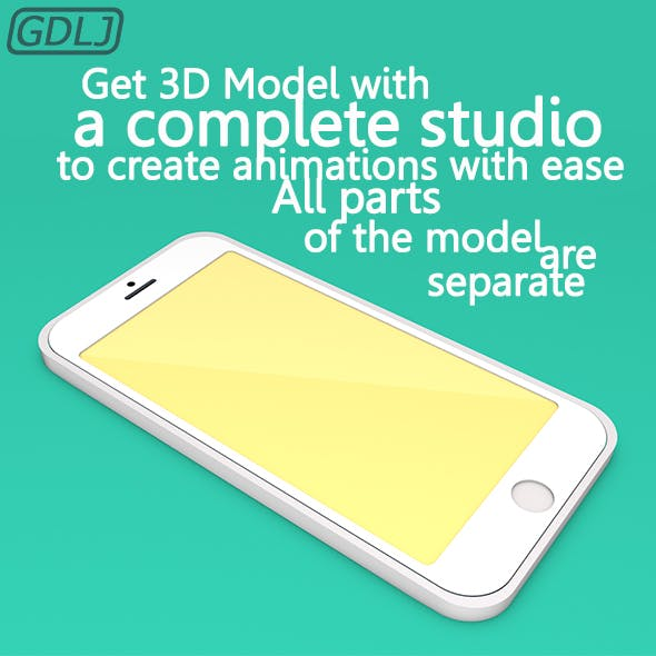 Iphone with Studio Animation - 3DOcean Item for Sale