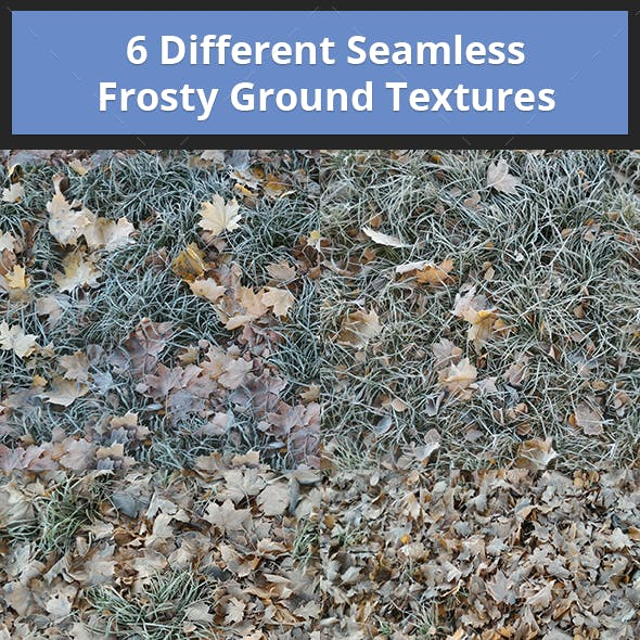 Pack of 6 Different Seamless Frosty Ground Textures