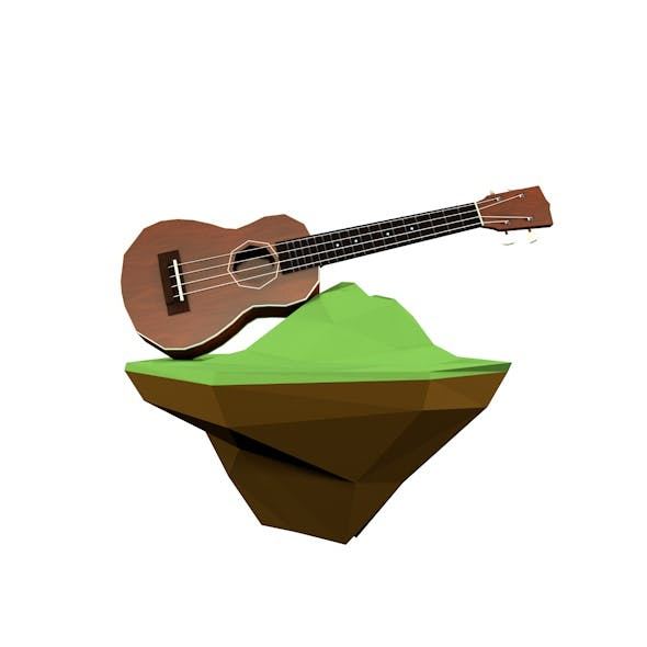Low Poly Ukulele